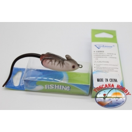 Artificial MOUSE 11cm (with tail)-11gr. dark grey striped.FC.AR94
