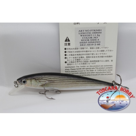 Artificial Fish Cefaletto 10-cm-11,8 gr. sinking, color 363. FC.AR96