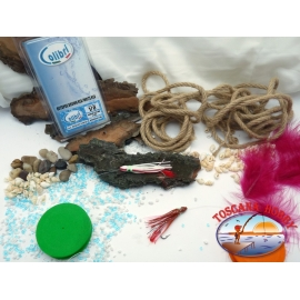2 Polipetti Octopus 7 CM+amo acciaio 1/0+Fluorocarbon-PINK VIOLET/PINK.CB330