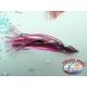 2 Polipetti Octopus 7 CM+amo acciaio 1/0+Fluorocarbon-PINK VIOLET/PINK.CB330