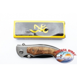 Couteau Browning de poche pliant manche en bois et en métal.FC.W06