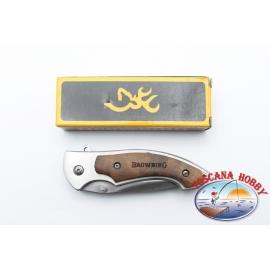 Couteau Browning de poche pliant manche en bois et en métal.FC.W07