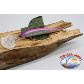 Pececillo Artificial de VÍBORA, 15cm-21gr. flotante, color: plateado y rosa. FC.V34