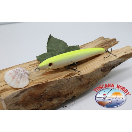 Artificiale Minnow Viper stile Rapala, 15cm-27gr. col. white/yellow. FC.V58