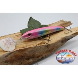Artificiale Minnow Viper stile Rapala, 15cm-27gr. col. arcobaleno. FC.V59