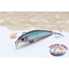 Künstliche Minnow VIPER, 6,5 cm - 4,75 gr. Floating, mit: blue & purple.AR.646