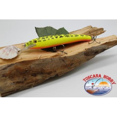 Pececillo Artificial Viper estilo de Rapala, 15cm-27gr. col. amarillo/rosa. FC.V73