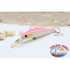 Artificiale Minnow VIPER, 7 cm - 5,90 gr. Sinking, col: white & pink.AR.682