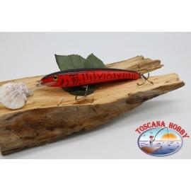 Artificiale Minnow Viper stile Rapala, 15cm-27gr. col. rosso striato. FC.V77