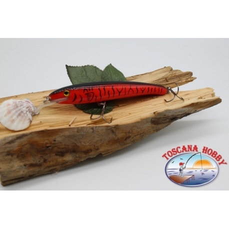 Pececillo Artificial Viper estilo de Rapala, 15cm-27gr. col. rojo manchado. FC.V77
