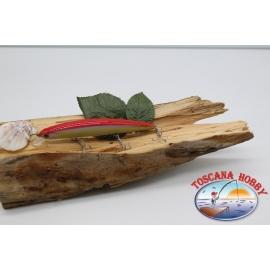 Pececillo Artificial de VÍBORA, 13cm-20 gramos. flotante, color: blanco y rosa. FC.V86
