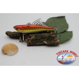 Artificiale Lipless Pinna plastica 6,5cm-10gr sinking, col.pesce rosso. FC.V89