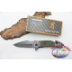 Hunting knife Browning in stainless steel and green handle W18