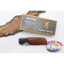 Coltello Browning Wood acciaio inox e impugnatura in legno W19