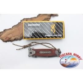 Messer Browning aus rostfreiem stahl und der griff aus holz W20