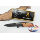 Hunting knife Browning in stainless steel, wooden handle W24