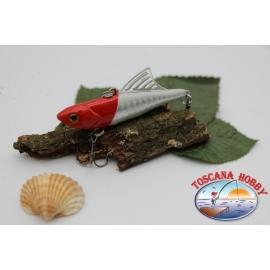 Artificiale Lipless Pinna plastica 6,5cm-10gr sinking col.testa rossa FC.V95