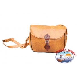 Bag hunting leather brown 80's CL.70