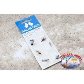 Las moscas de pesca MUSTAD hechos a mano de 6 piezas - Tamaño 12 CL.111