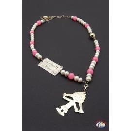 "Necklace silver 925 Holy Spirit Jewelry ""MI PRESTI BARBIE"" with river pearls"