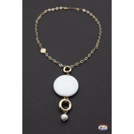Halskette silber 925 Heilig-Geist-Schmuck onyx weiß