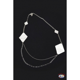Halskette silber 925 Heilig-Geist-Schmuck mit rauten gefertigt, überhang