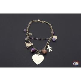 Necklace silver 925 Holy Spirit Jewelry amethyst, quartz, carnelian