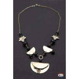 Halskette silber 925 Heilig-Geist-Schmuck mit onyx schwarz