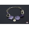 Necklace silver 925 Holy Spirit Jewelry with amethyst and river pearls