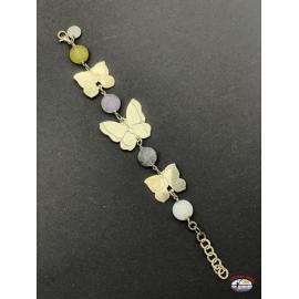 Armband silber 925 Heilig-Geist-Schmuck mit onyx und amethyst