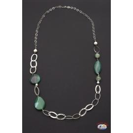 Halskette rk. 925 Heilig-Geist-Schmuck achat grün-und perlen-fluss