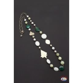 Collar de plata 925 Espíritu Santo Joyería onix, blanco, verde ágata, cuarzo citrino