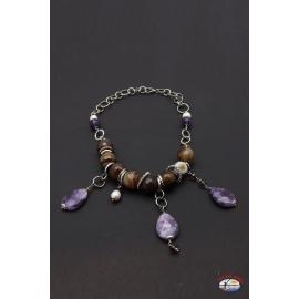 Collar de arg. 925 Espíritu Santo de la Joyería del río de las perlas, la amatista, cornalina