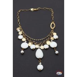 Collar de plata 925 Espíritu Santo de la Joyería del río de las perlas y ónix blanco