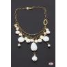 Collana argento 925 Santo Spirito Gioielli perle di fiume e onice bianca