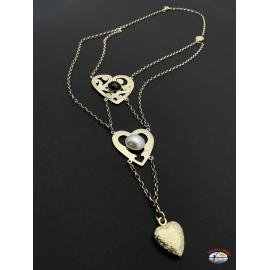 Collar de plata 925 Espíritu Santo de la Joyería del río de las perlas y ónix negro