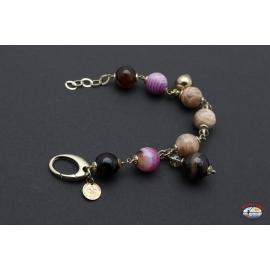 Bracelet en argent 925 Esprit Saint Bijoux, jaspe, améthyste et