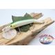 Señuelos artificiales de la Víbora de la cola articulado de 12cm-14gr Flotante col. perla/verde FC.V274