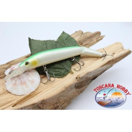 Artificiale Lures Viper coda snodata 12cm-14gr Floating col. perla/green FC.V274