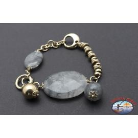 Bracelet silver 925 Holy Spirit Jewelry with smoky quartz