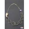 Collar de plata 925 Espíritu Santo de la Joyería, amatistas, perlas de río