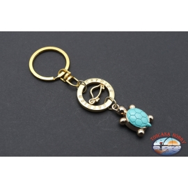 Keychain Carpisa golden metal pendant with turtle