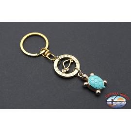 Schlüsselanhänger Carpisa aus vergoldetem metall mit anhänger schildkröte