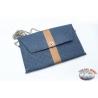 Pochette Ohmai Italy - Reversibile - Blu e marrone o blu e nero leopardato