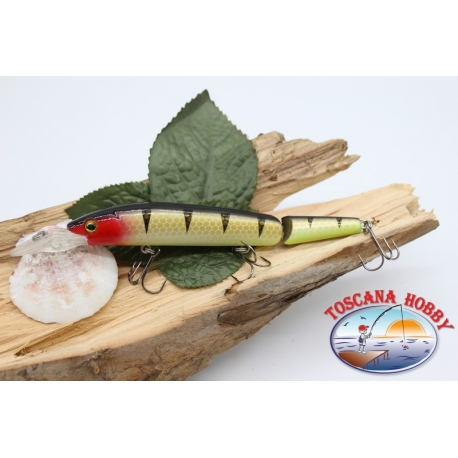 Artificial Lures Viper tail jointed 12cm-14gr Floating col. honeycomb FC.V276