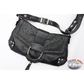 Bag Dolce&Gabbana black and silver with tracollina closure with button magnet
