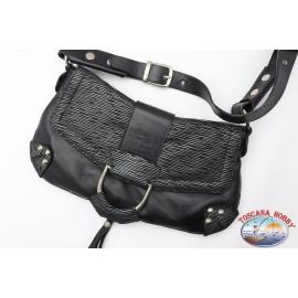Bolso de Dolce&Gabbana negro y plata con tracollina cierre con botón de imán