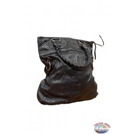 Bolsa de Adivinar python print negro y forro interior en algodón