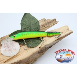 Artificial Lures Viper tail jointed 12cm-14gr Floating col.yellow/green FC.V278