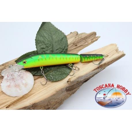 Künstliche Lures Viper warteschlange gelenken 12cm-14gr Floating col.yellow/green FC.V278